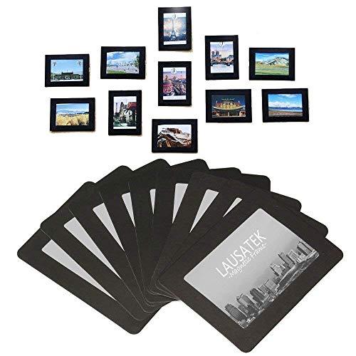 Cornici magnetiche per fotocamere e magneti per frigoriferi, telaio a tasca per frigorifero, bianco, nero, 10x15, 9x13, 8x10, 6x9 cm,20 pezzi