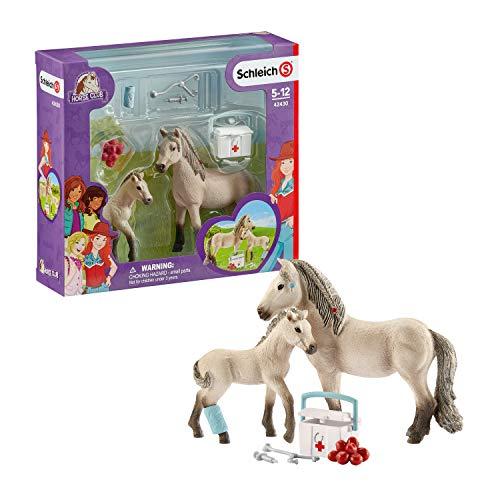 Schleich 42430 Horse Club play set - Horse Club Hannah set de primeros auxilios, juguetes a partir de 5 años