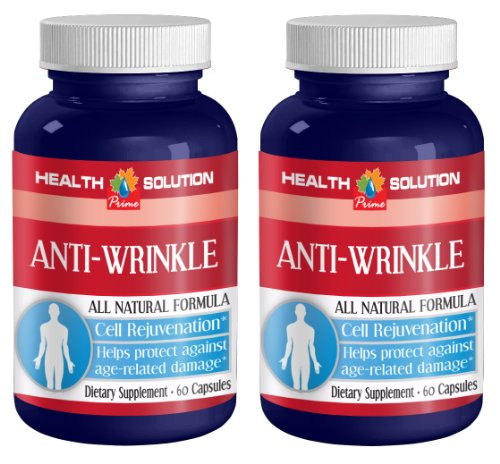 Collagen Powder with hyaluronic Acid - Anti-Wrinkle Anti-Aging Complex - Natural Anti-Aging (2 Bottles 120 Capsules)