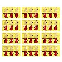 NUOBESTY クラフト紙シールステッカーウサギ形自己粘着ラベルステッカーラッピングステッカーギフトクラフトギフトフード50枚