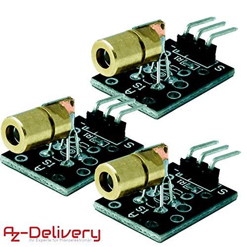 AZDelivery 3 x KY-008 Laser Sensor Modul 650nm für Arduino