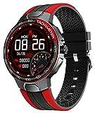 Smart Watch, Orologi Fitness per Uomo Uonna, Orologio Fitness Tracker con Cardiofrequenzimetro, con Monitoraggio del Sonno Impermeabile IP68, 24 Modalità Sport Compatibili per Telefoni iPhone Android