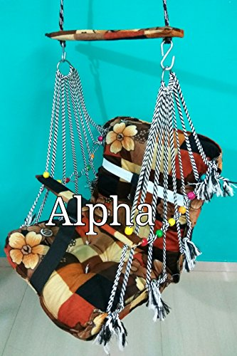Sale Active Alpha Cotton Swings for Kids 1 to 3 Years Baby/Children with Safety Belt - Indoor Outdoor Hanging Sleepping Jhoola for Toddler/Infant