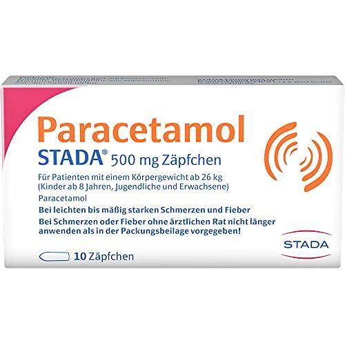 Paracetamol STADA 500 mg Zäpfchen bei Schmerzen und Fieber, 10 St. Zäpfchen