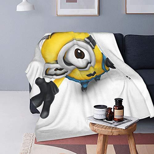 Jonny Grader Minion Ultraweiche Micro-Fleece-Decke, Überwurf, Decke, Flanell, Decken für Bett, Sofa, Couch, Camp, 150 x 130 cm
