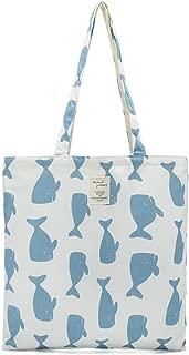 Women's Canvas Tote Shoulder Bag Stylish Shopping Casual Bag Foldaway Travel Bag