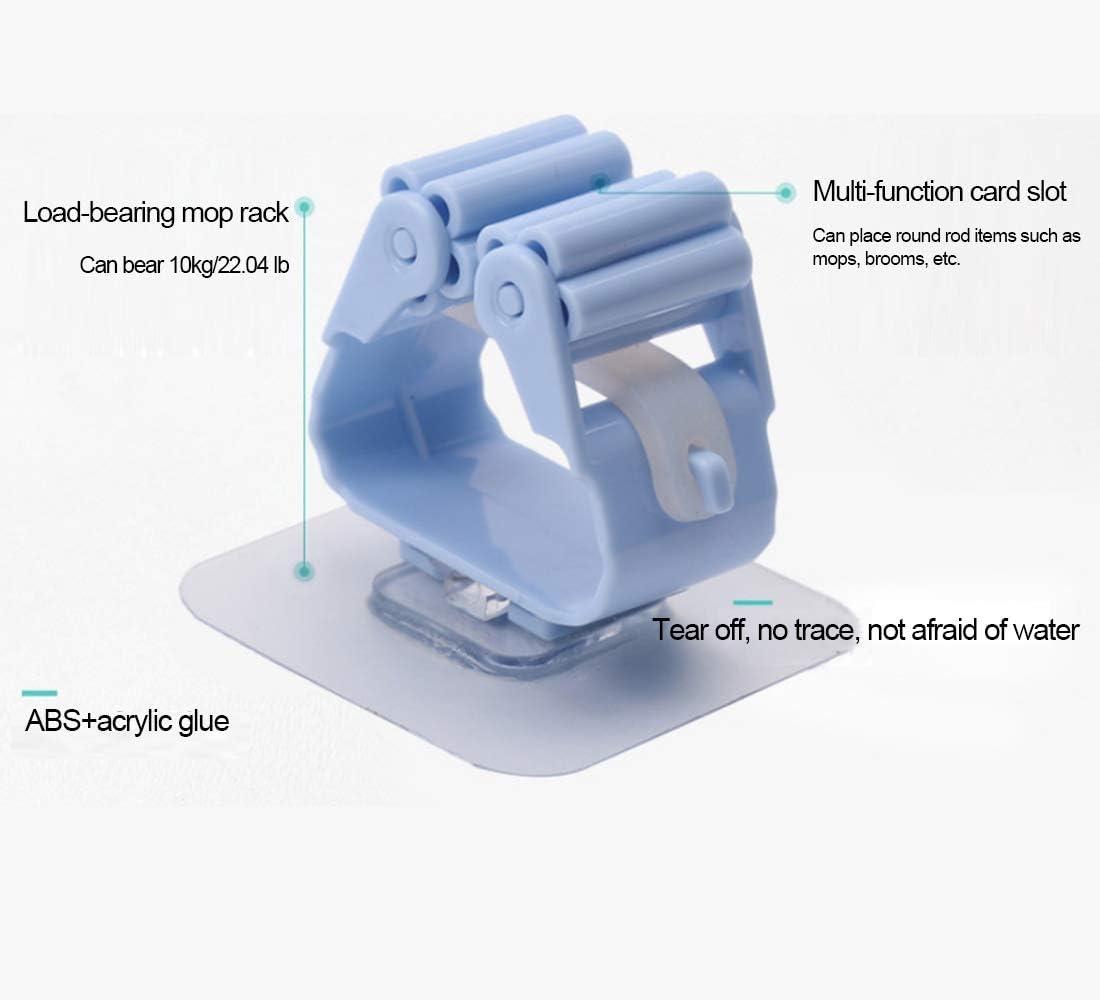 capacidad para hasta 10 kg Soporte para fregona y escoba garaje y ba/ño paquete de 4 herramientas de almacenamiento montado en la pared para cocina autoadhesivo sin perforaciones