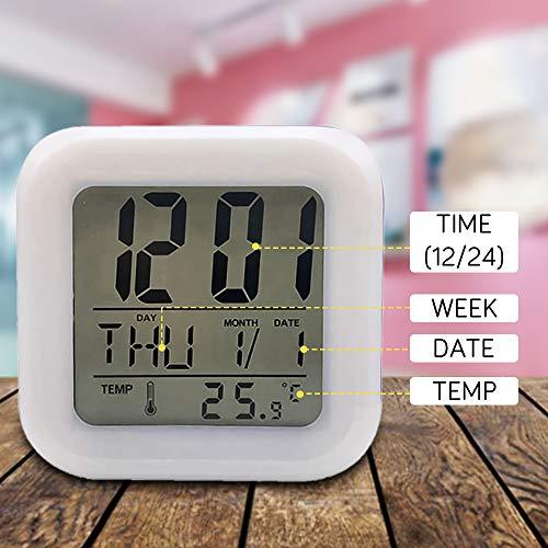 Réveils numériques Licorne pour les filles, Cube LCD LED de nuit brillante avec enfants légers Réveillez-vous l'horloge de chevet Cadeaux d'anniversaire pour les enfants Femmes Chambre adulte (1)
