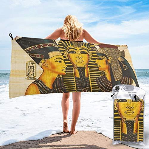 Toalla de playa Toalla ligera súper absorbente de secado rápido para nadar, piscina, playa Cleopatra, Nefertiti y Rameses Ii Papiro Antiguo Egipcio Ver más imágenes de Egipto aquí tamaño 80X16cm