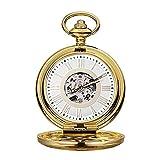 Montre de poche, vintage creux personnalisé, montre de poche avec anniversaire en chaîne de...