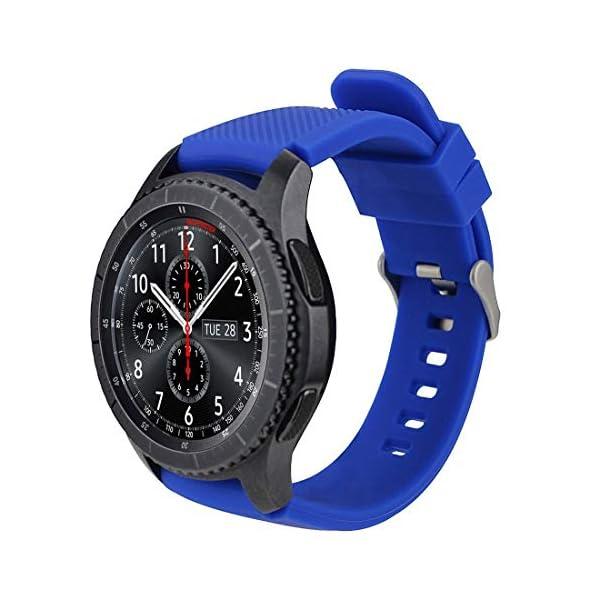 MroTech 22mm Correa Silicona Compatible para Samsung Gear S3 Frontier/Classic/Galaxy Watch 46mm Pulsera Repuesto para… 2
