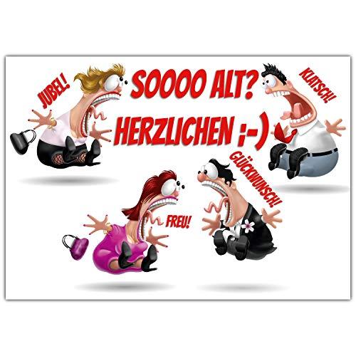 A4 XXL Geburtstagskarte KOLLEGEN mit Umschlag - edle Grußkarte zum Aufklappen - Glückwunschkarte zum Geburtstag Karte für Mann Frau von BREITENWERK