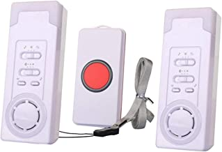 2 in 1 Smart Caregiver Wireless Personal Pager System Emergency Care Alarm Call Button Nurse Alert System with 1 Buttons,2 Receiver for Elderly Nurse Patient 500+ft Operating Range