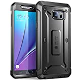 SUPCASE [Unicorn Beetle Pro Series] Case for Samsung Galaxy Note 5, [Heavy Duty] Full-Body Rugged Cover with Built-in Screen Protector (Black)