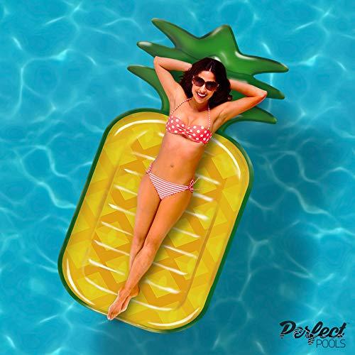 Perfect Pools Offizielle Aufblasbare Riesen Ananas Lilo | Schwimmbecken Schwimmer 180cm