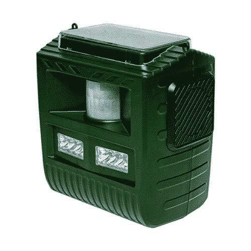 Ahuyentador solar de jabalís, zorros y conejos   Ultrasonidos   7 Sonidos   Flash   Funcionamiento continuo o con sensor movimiento