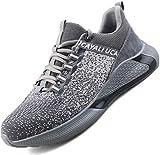 Ucayali Zapatos de Seguridad Hombre Calzado Trabajo Comodos Ligeras Zapatillas para Trabajar con Punta de Acero Transpirables Antiestaticos Cocina(017 Gris, 42 EU)
