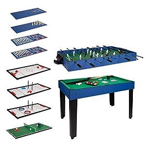 ColorBaby - Mesa multijuegos, Futbolín de madera, Mesa billar convertible, 12 juegos, Juguetes niños 6 años, Juegos de mesa, Futbolines para niños, Juegos de mesa adulto