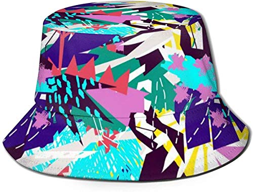 DUTRIX Caps Abstract Floral Elements Paper Collage Fisherman's Hat Travel Visor Sun Hat Fishing Fisher Beach Festival Sun Cap