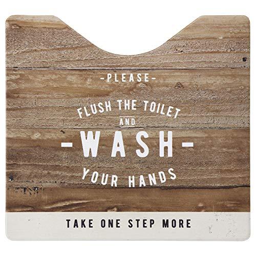 ベストコ トイレマット ルール ナチュラル スクエア さらっと拭ける お手入れ簡単 ND-9954