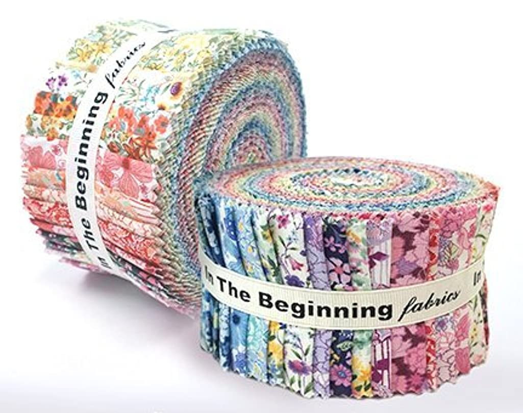 In the Beginnings Garden Delights ll Strip Roll 36 Pieces 2 1/2 Inches Cotton Fabric