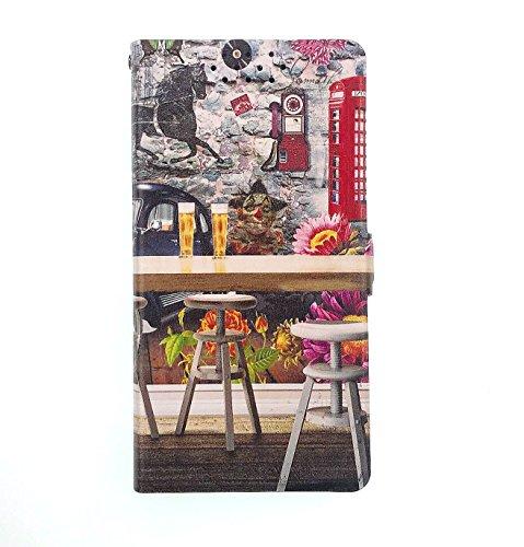 Archos 50 Saphir Hülle, Flip Phone Wallet mit Kartenschlitzen Standfunktion Magnetisch Off Phone Hülle YX