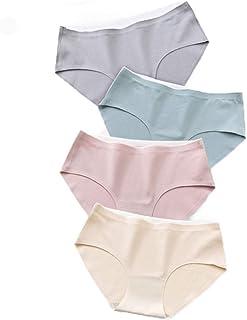 Shinningstar Girls' Women's 4 Pieces of 95% Cotton with Bacteriostasis Crotch Underwear Briefs