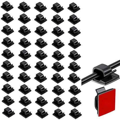 50-Teilige Kabelklemmen Selbstklebende...