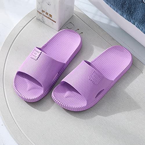 WENHUA Zapatillas de Huéspedes Antideslizantes, Zapatillas de para Hombre para Verano para Adultos, Pantuflas de baño Gruesas Antideslizantes para Hombres, Mujeres, Purple_40-41