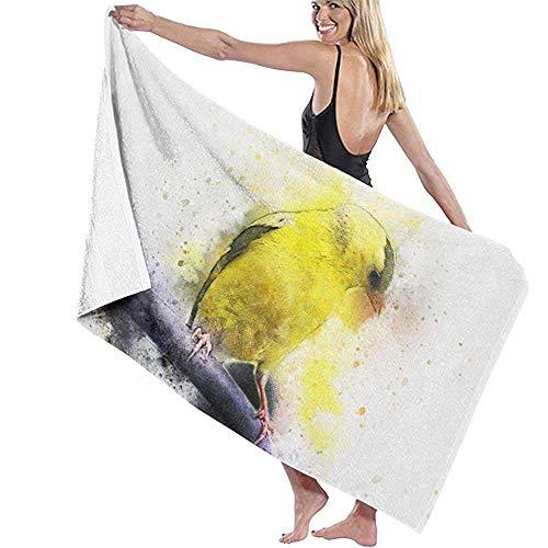 Toalla de playa de microfibra colibrí dorado en un soporte pintado rama toalla de baño para viajes natación piscina yoga camping gimnasio deporte 80x130