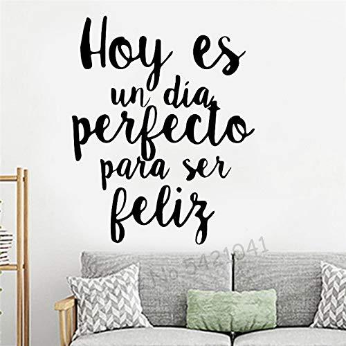 Frases en español talladas pegatinas de pared decoraciones para el hogar a prueba de agua sala de estar fondo de la habitación de los niños calcomanías de pared para casa A7 43x53cm