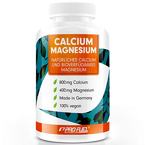 Calcium & Magnesium Komplex | Hohe Bioverfügbarkeit | 100{bec28cb340b514cd6903acf07780862647df53b1122ce808aa9ceb0aaeccec07} Vegan | Monatspackung | ZELLSTOFF CaMg 70+