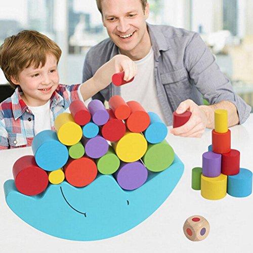 TOOGOO 1 Set Baby Children Toys Juego Moon Balance y juegos de juguete para nina y nino de 2 a 4 anos (azul)
