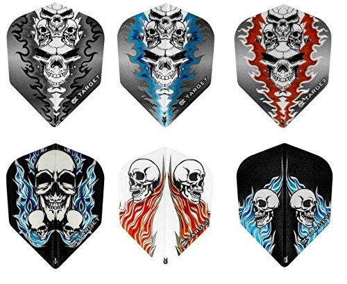 TARGET 4 x gemischte Sets Pro 100 Flights Skull inkl. 1 Empire® Flight