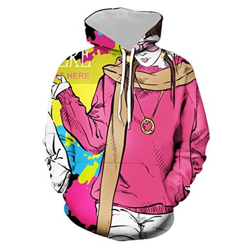 Męskie Pullover Graphic Bluza, Młodzież Dziewczyna Image Pop Art Funny Print Hoodie, Kochankowie Nastolatki Unisex Unisex Z Kapturem Luźne Codzienne Dorywczo Sportswear