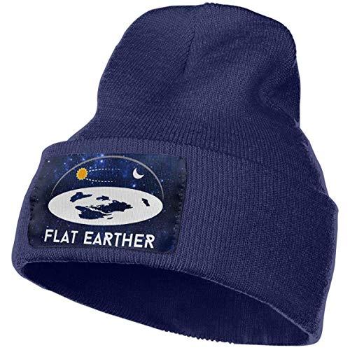 AEMAPE Sombrero de Punto Unisex Gorro de Calavera de Moda Sombreros de Punto - Tierra Plana
