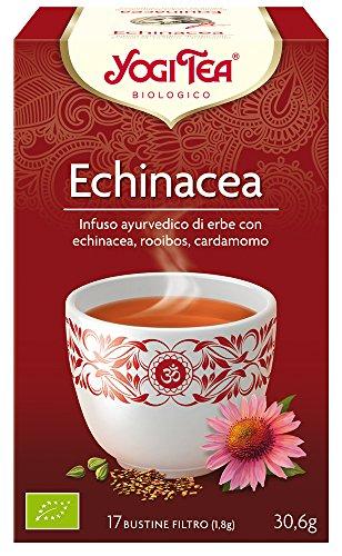Yogi Tea Infusión de Hierbas Echinacea, 1 Pack de 17 bolsitas