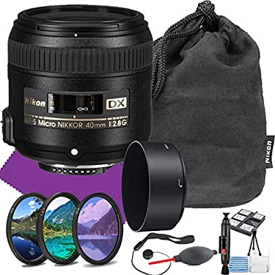 Nikon AF-S DX Micro-NIKKOR 40mm f/2.8G Close-up Lens with Auto Focus + Acessory Bundle and Cleaning Kit from MJ | Nikon Intl