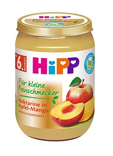 HiPP Für kleine Feinschmecker Nektarine in Apfel-Mango, 6er Pack (6 x 190 g)