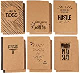 Kraft Paper Notebook, Boss Journal (4 x 5.75 in., 12 Pack)