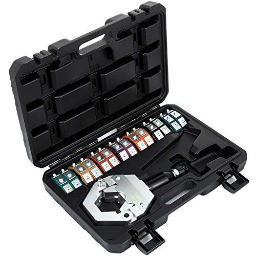 Preisvergleich Produktbild Mophorn Hydraulikschlauch Crimper Tool Kit 7 Dies A / C Klimaanlage Handheld Crimp Set