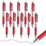 Sunfauo Boligrafos Boligrafo Bolígrafo Negro Escuela Plumas Escribir bolígrafos Bolígrafos Negro Los bolígrafos de Tinta Negro bolígrafos red10pcs