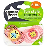 Tommee Tippee Closer To Nature: 2 x Sucette 6-18m (Robots - :Rose/Jaune)