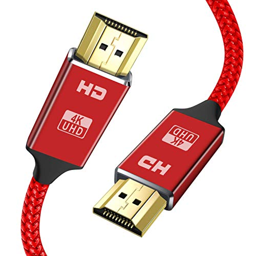 4K HDMI Cable 2M red HDMI Lead-Snowkids Ultra High Speed 18Gbps HDMI 2.0 Cable 4K@60Hz Compatible Fire TV, 3D Support, Ethernet Function, Video 4K UHD 2160p, HD 1080p, 3D - Xbox PlayStation PS3 PS4 PC
