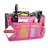 Bolso organizador de bolso de mano Kobwa, portátil, multibolsillo, bolsillo para cosméticos para...