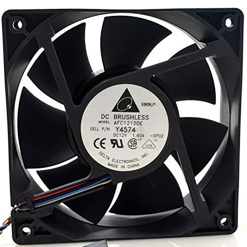for Delta AFC1212DE 12V Fan 12V 1.60A 120MM PWM Temperature Control Cooling Fan