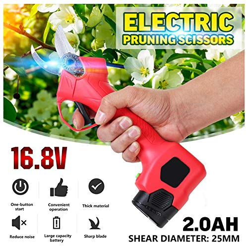 Amazing Deal XPKZYSLJ-J Professional Cordless Electric Pruning Shears, Rechargeable 16.8V Powered Tr...