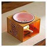 Scaldamani di candele, aromaterapia Aroma Burner, portacandele Tealight in ceramica, diffusore per bruciatori ad olio essenziale, Meditate Spa Decorazioni per camera da letto per casa, regalo di Natal