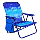 Mid Height Steel Backpack Beach Chair and Camping Sports Chair w Side Pouch