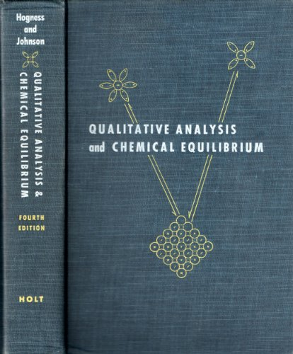 Qualitative Analysis and Chemical Equilibrium